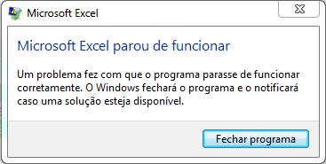 """Como Resolver Erro """"Microsoft Excel Parou de Funcionar"""" Quando as Macros são Habilitadas"""