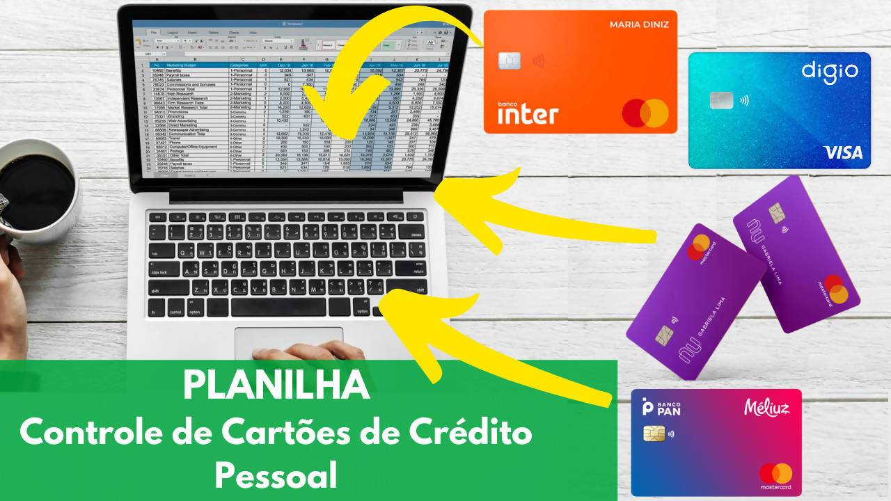 Planilha para Controle de Cartão de Crédito pessoal em Excel