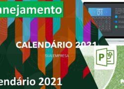 Apresentação Calendário 2021 em PowerPoint