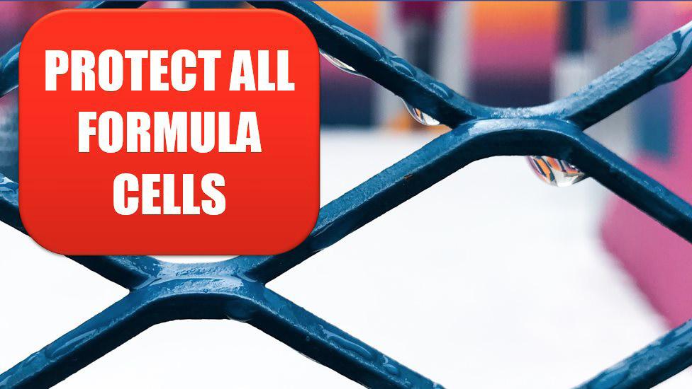 Excel 2020: Proteger todas as células de fórmula