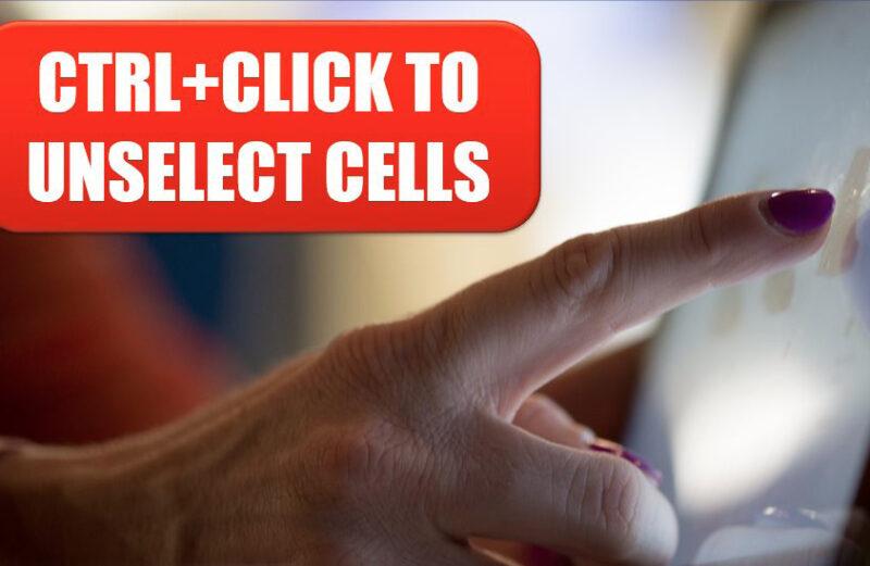 Excel 2020: Ctrl + Clique para desmarcar células