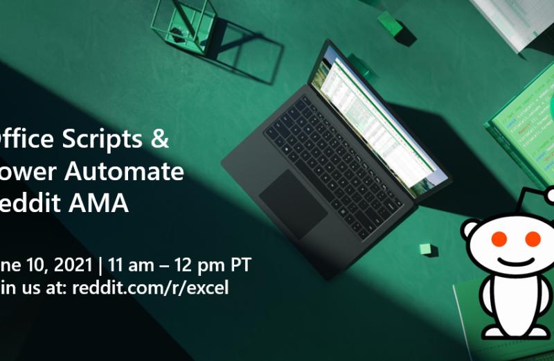 Junte-se ao nosso Office Scripts e ao Power Automate AMA!