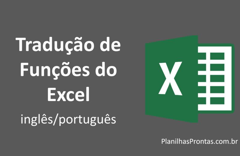 Tradução de Fórmulas do EXCEL (Inglês/Português)